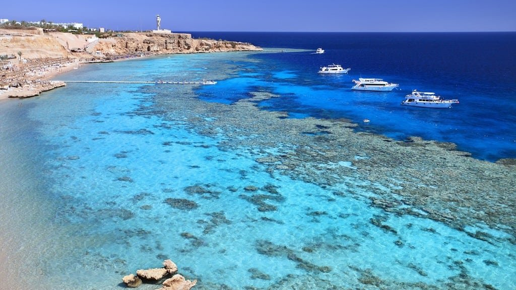Морские побережья Египта